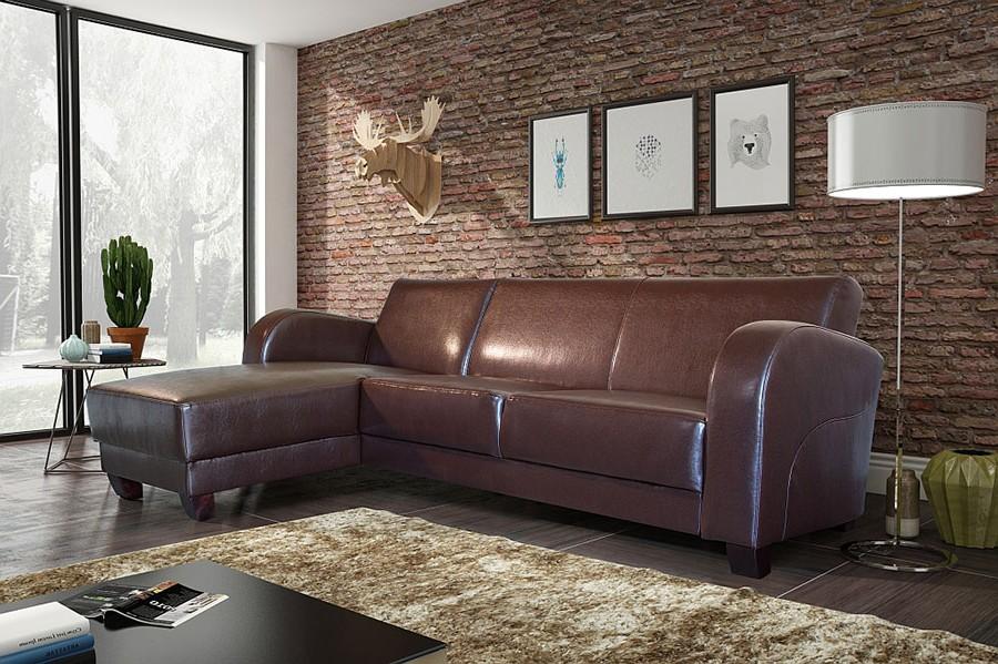 Canape convertible marron cuir vieilli canap id es de for Canape convertible aspect cuir vieilli