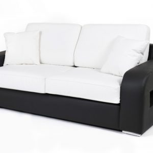 canape convertible 2 places noir et blanc canap id es de d coration de maison lblam4xlm7. Black Bedroom Furniture Sets. Home Design Ideas