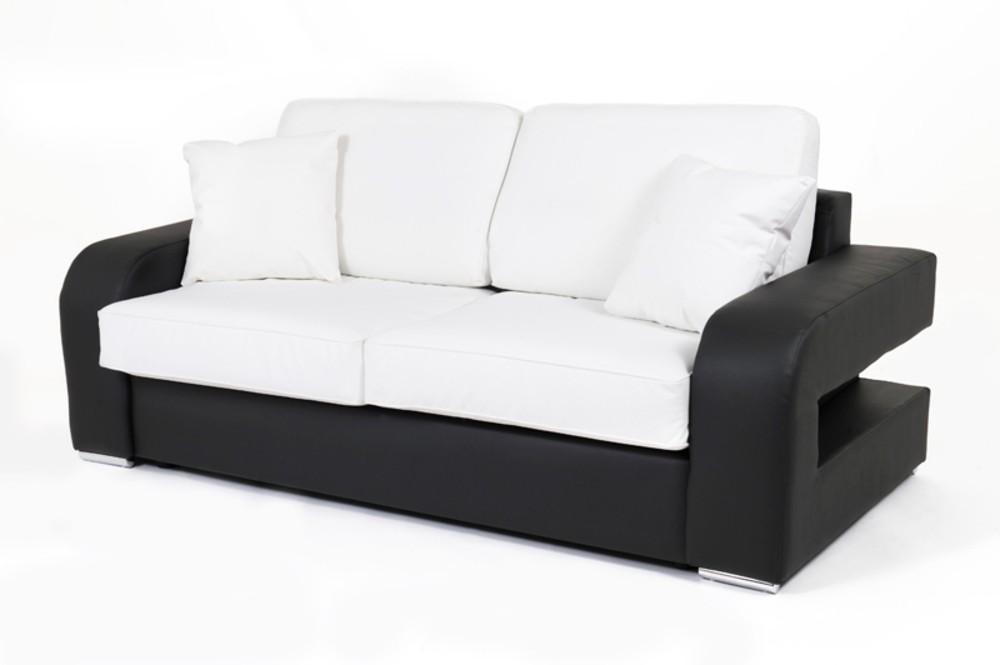Canape Convertible Noir Et Blanc