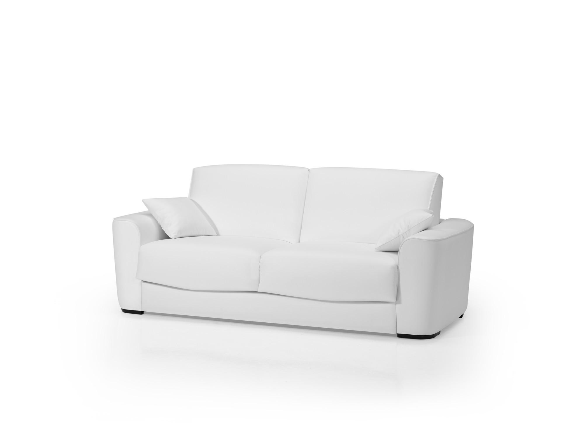 Canape Convertible Simili Cuir Blanc