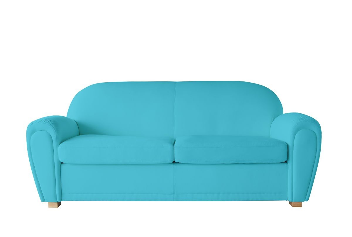 Canape Cuir Bleu Turquoise