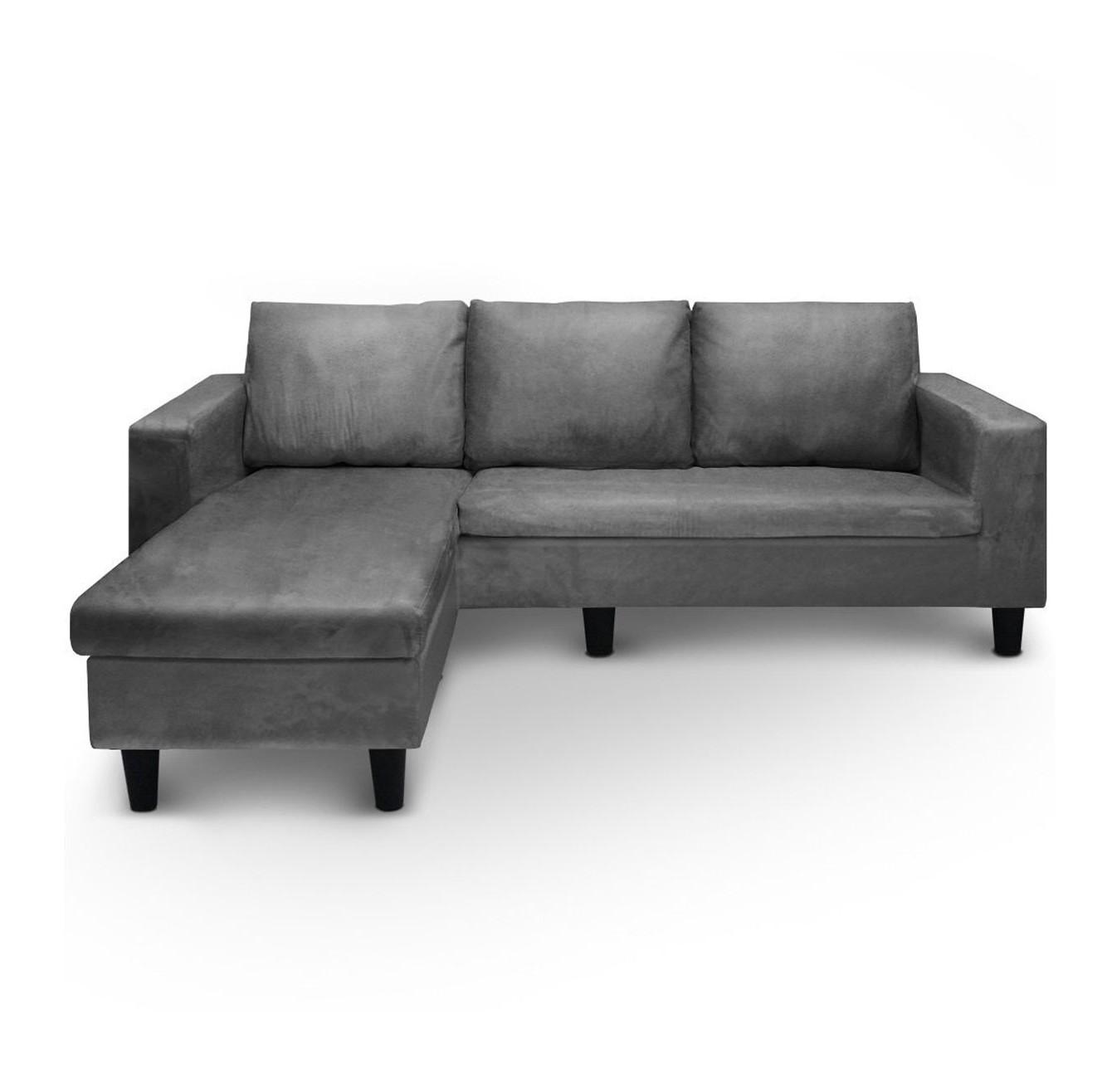 Canape D Angle Convertible Noir Simili Cuir