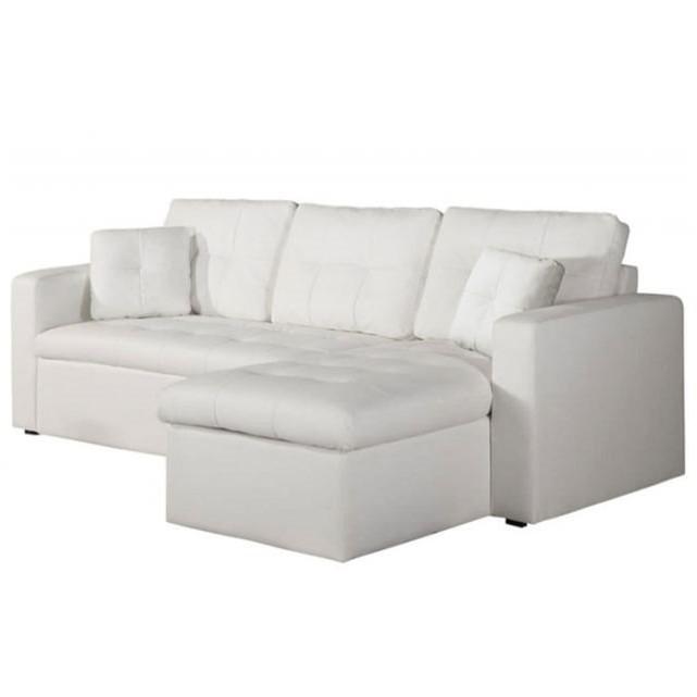 Canape Modulable Cuir Blanc