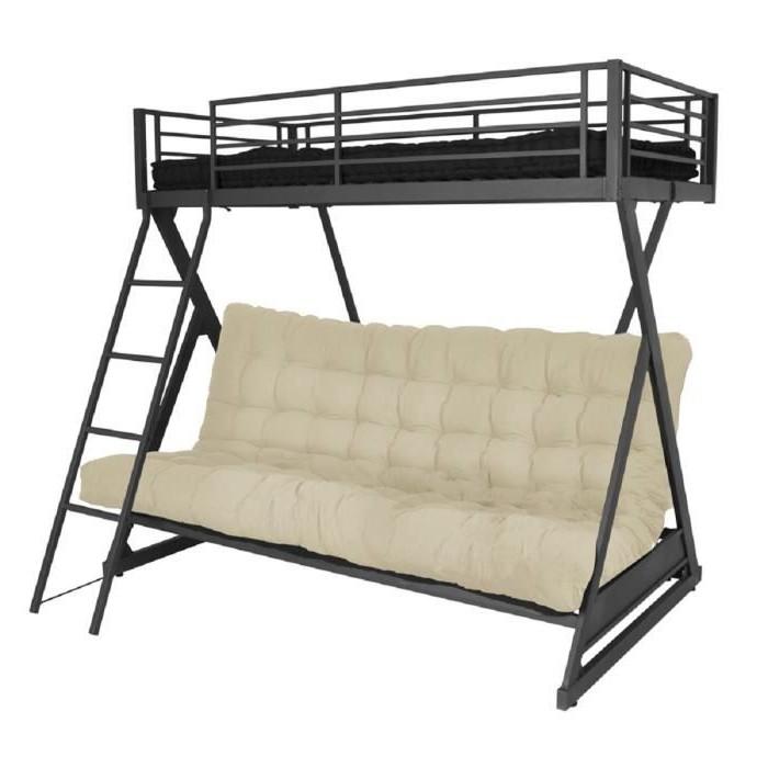 lit mezzanine avec canap convertible fix canap