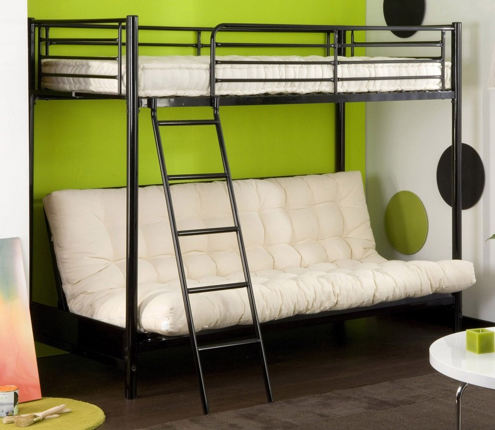 lit mezzanine 2 places avec canape maison design. Black Bedroom Furniture Sets. Home Design Ideas