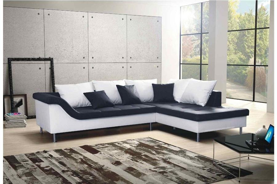 Canapé Angle Convertible Cuir Design