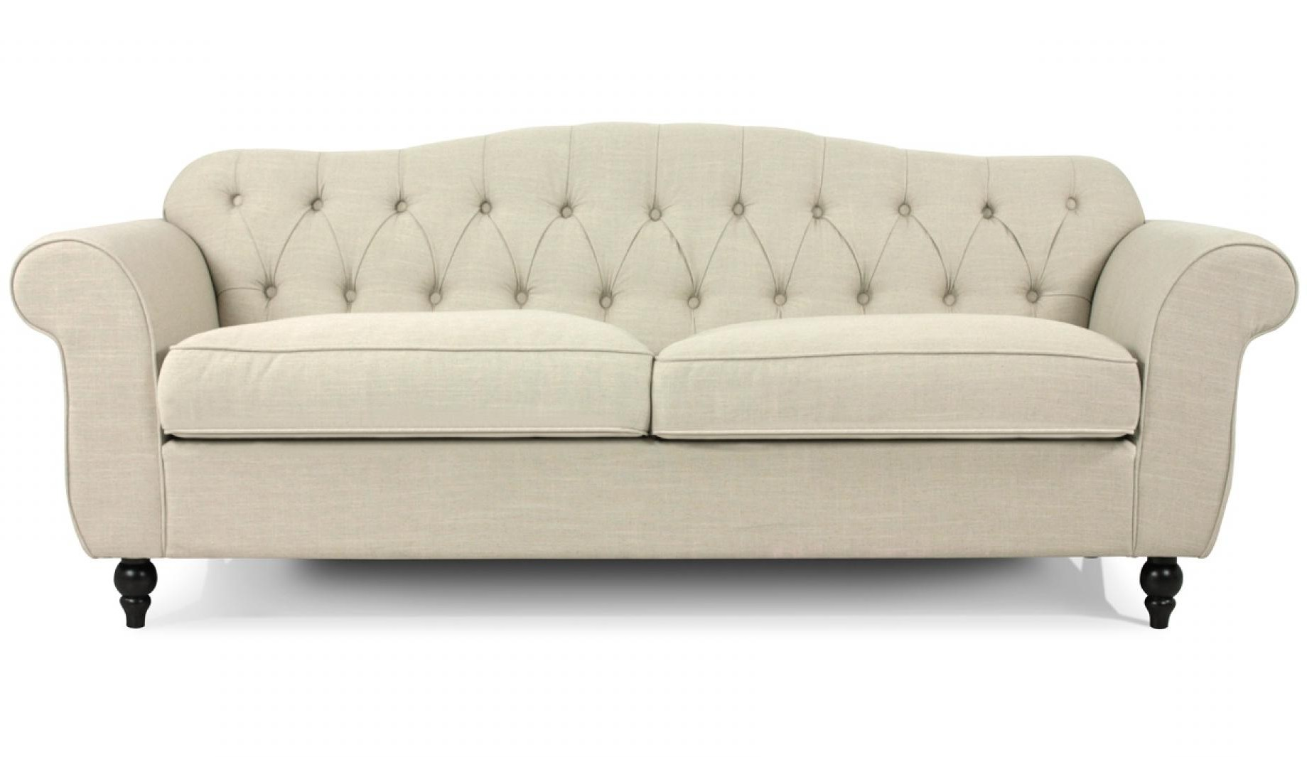Canapé Chesterfield Tissu 2 Places