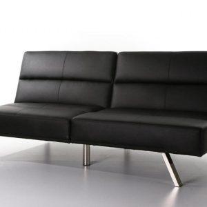 canap clic clac simili cuir blanc canap id es de. Black Bedroom Furniture Sets. Home Design Ideas