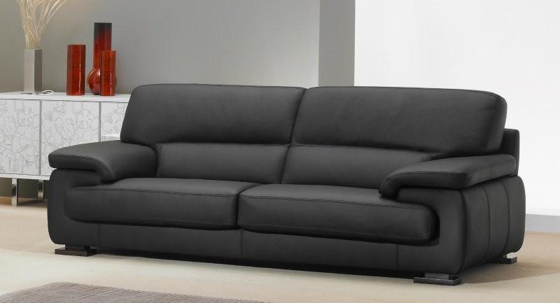 Canapé Convertible Moderne Cuir