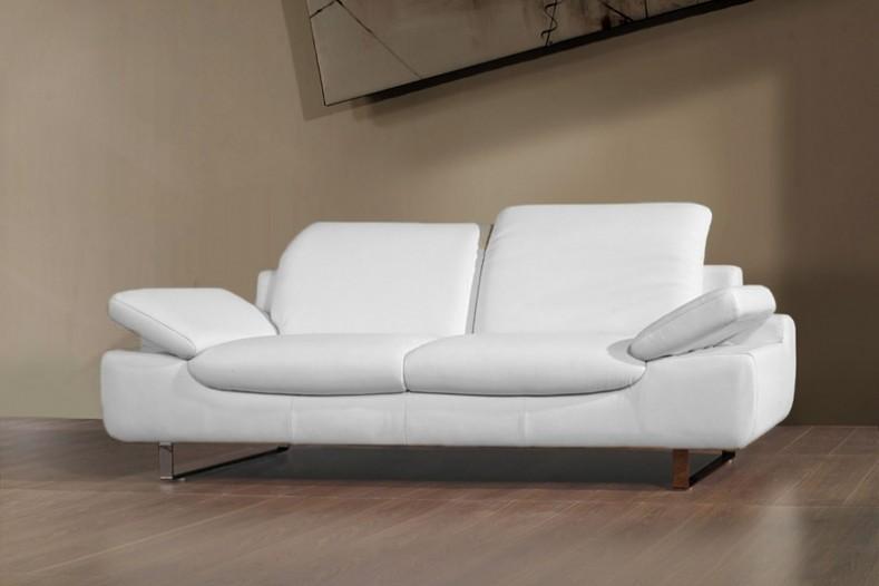 Canapé Cuir Blanc Convertible Places Canapé Idées De - Canapé cuir blanc 3 places