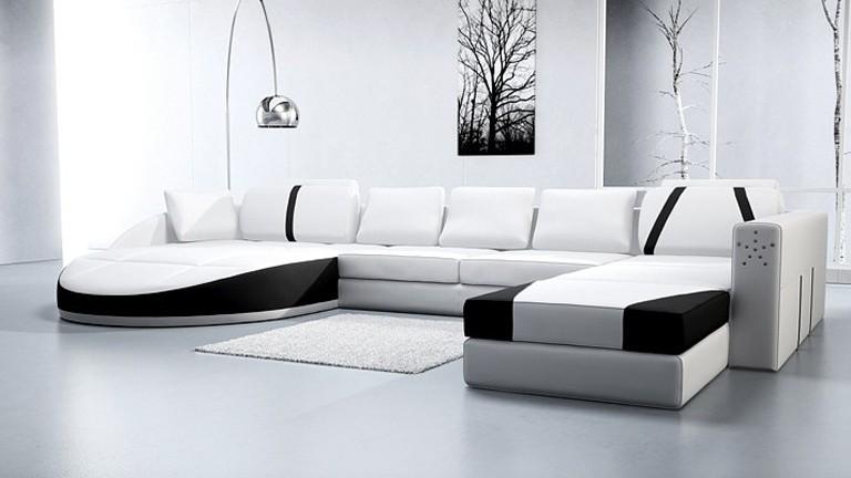 Canapé Cuir Blanc Design Italien