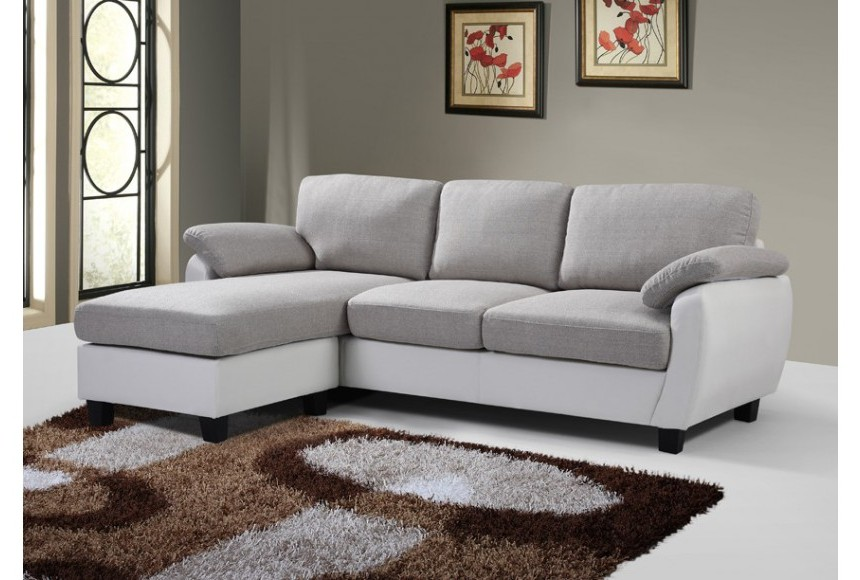 Canapé Cuir Et Tissu