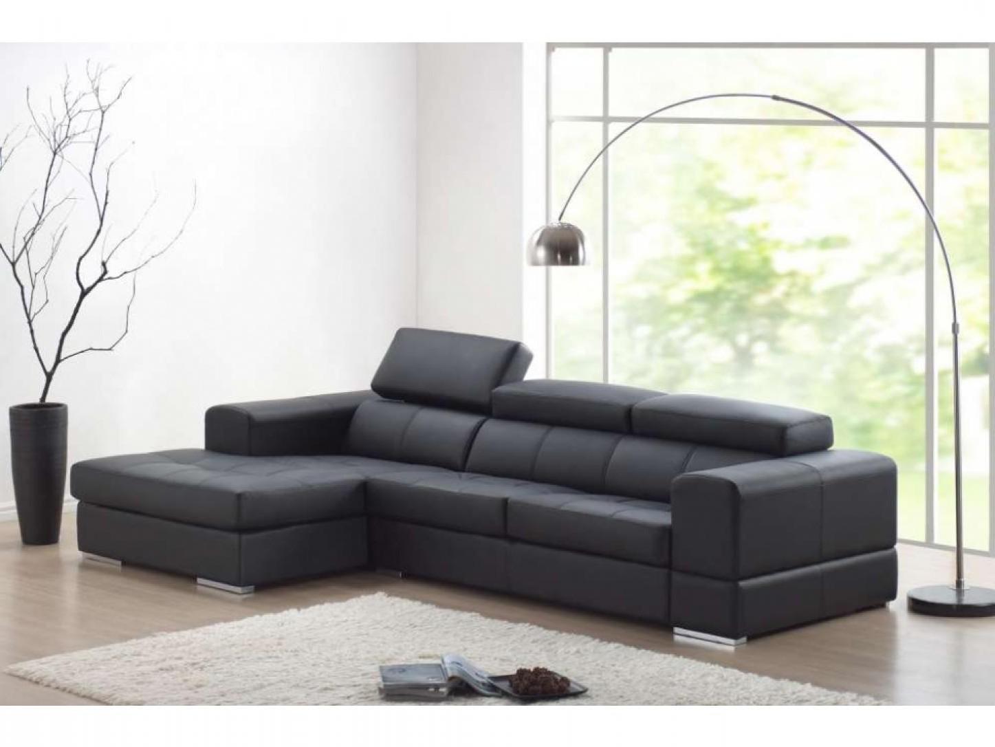 canap cuir noir et blanc amazing affordable quelles ides. Black Bedroom Furniture Sets. Home Design Ideas