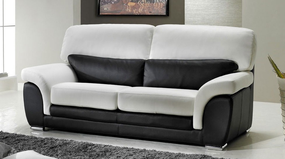 Canapé Cuir Noir Et Blanc Design