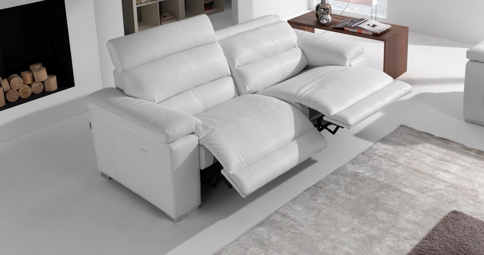 Canapé Cuir Relaxation électrique Ou Fixe Favara Bicolore