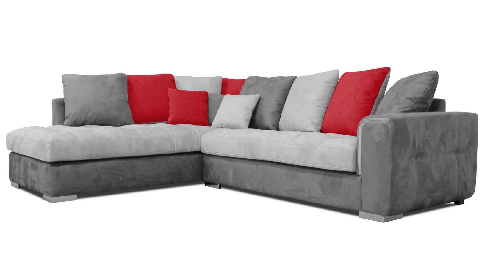 canap d 39 angle bicolore microfibre canap id es de. Black Bedroom Furniture Sets. Home Design Ideas