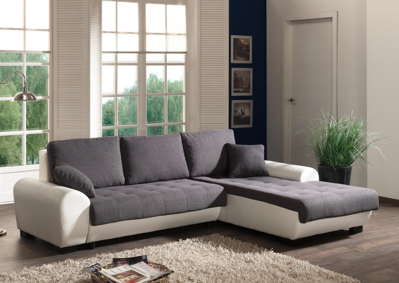 Canapé D'angle Blanc Et Gris But