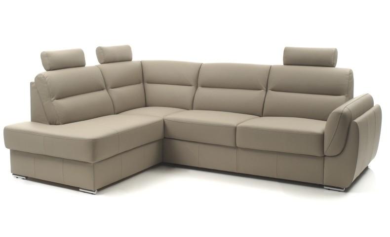 Canapé D'angle Convertible En Cuir