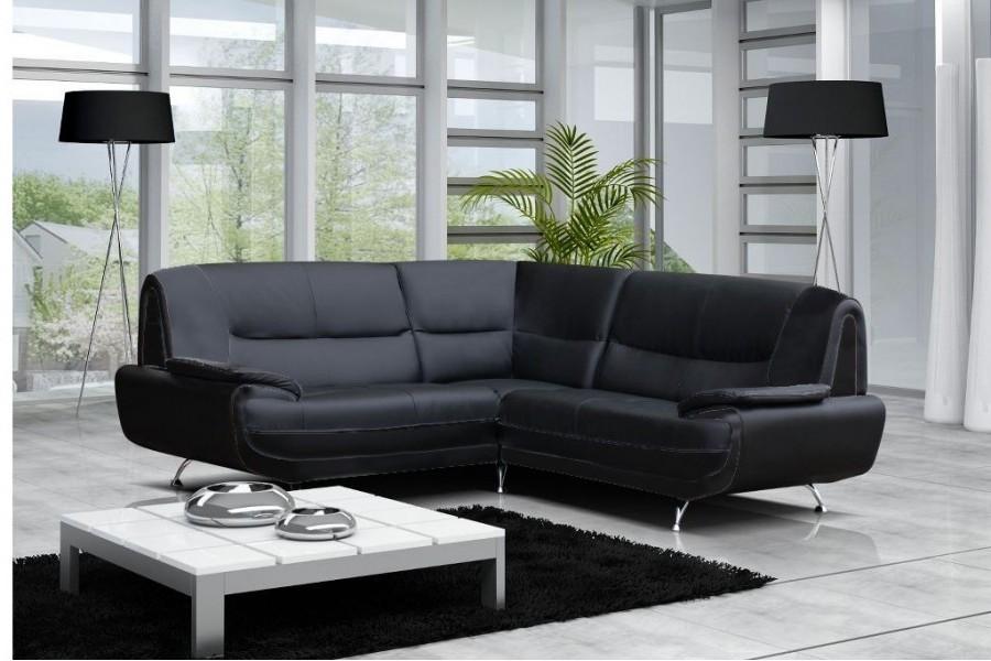 Canapé D'angle Convertible En Simili Cuir