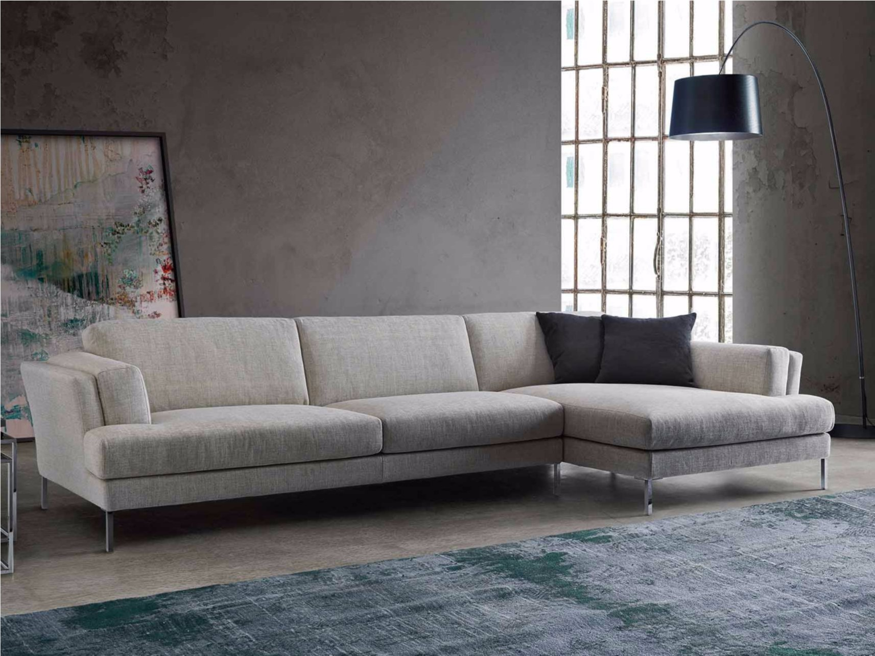 canap d 39 angle convertible gris fly canap id es de d coration de maison vrngnovb3l. Black Bedroom Furniture Sets. Home Design Ideas