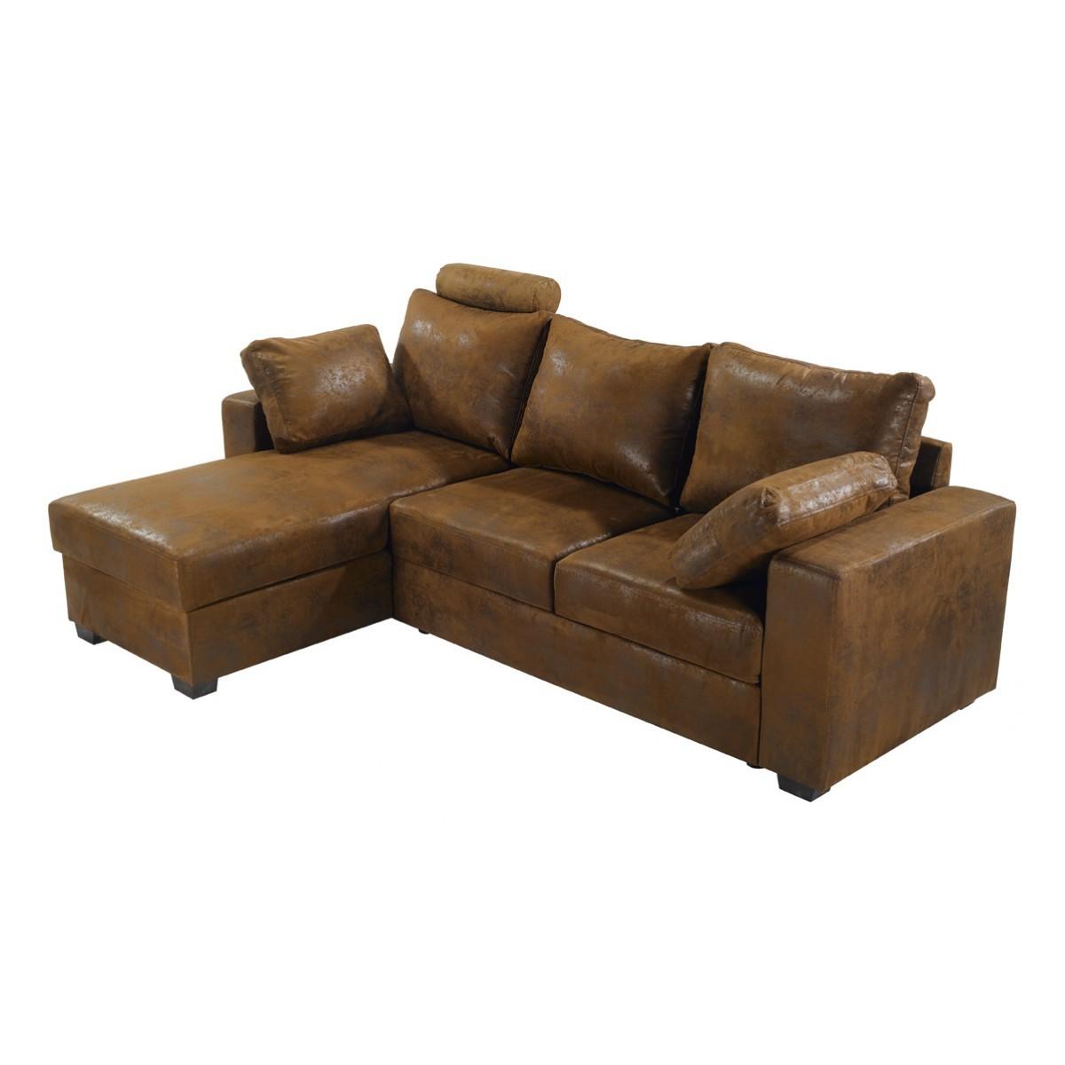 Canapé D'angle Convertible Lit 2 Places