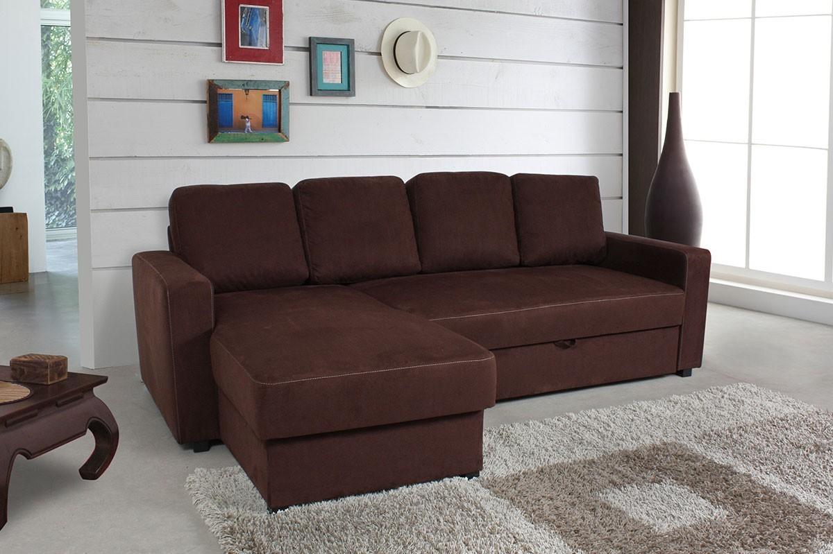 canap d 39 angle convertible marron chocolat canap id es de d coration de maison olddl3gdna. Black Bedroom Furniture Sets. Home Design Ideas