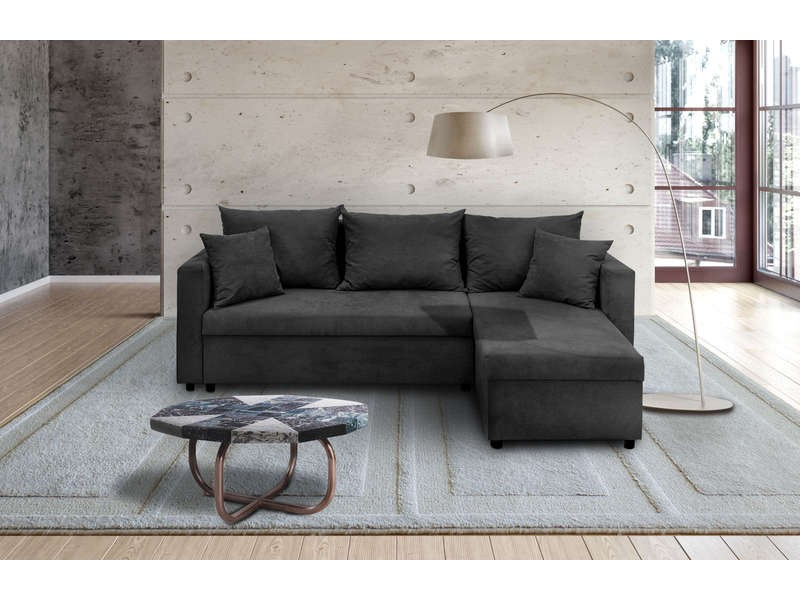 Canapé D'angle Convertible Neto Design Tissu