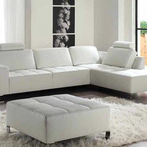 Canapé D'angle Cuir Blanc Cdiscount