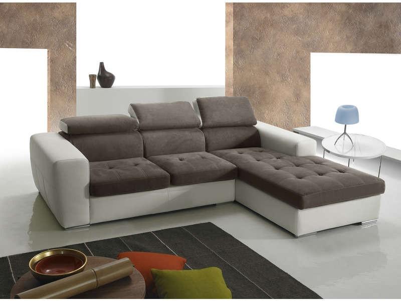 Canapé D'angle Cuir Convertible Conforama