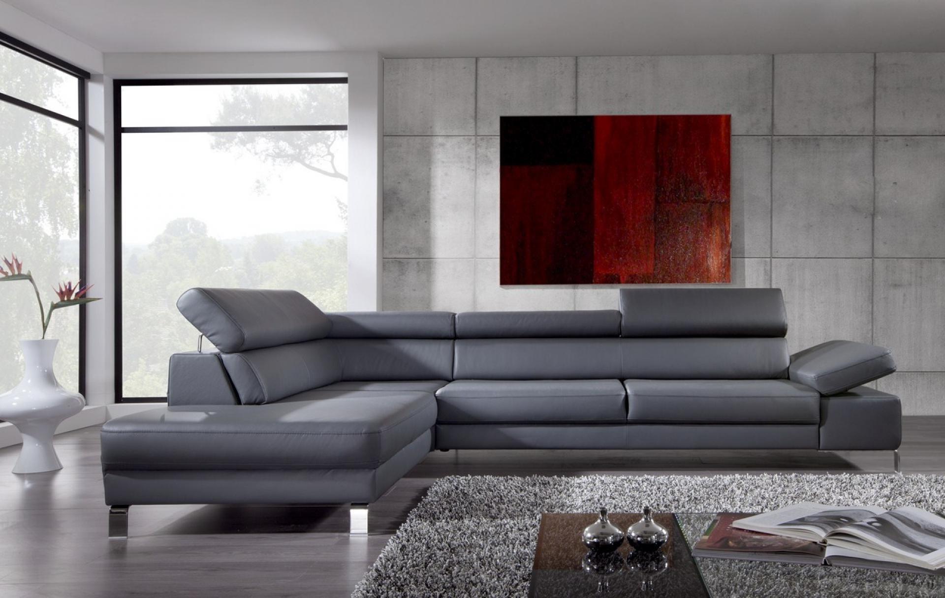Canapé D'angle Cuir Design Italien