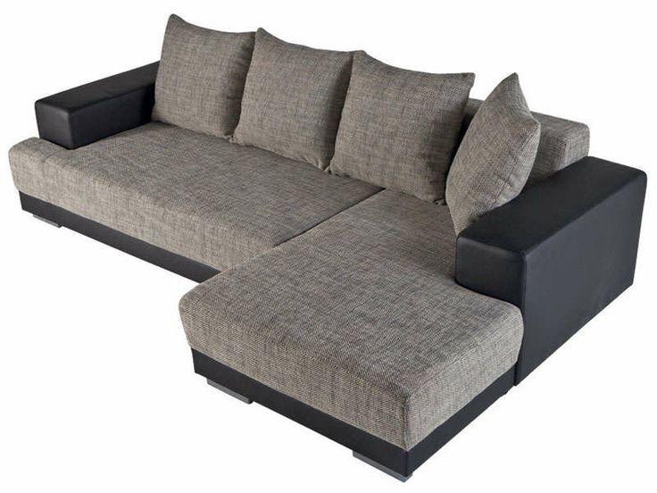 Canapé D'angle Cuir Gris Conforama