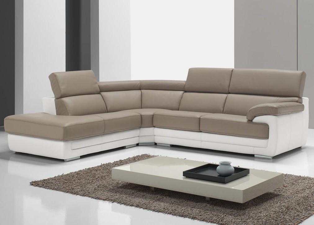 Canapé D'angle En Cuir Convertible