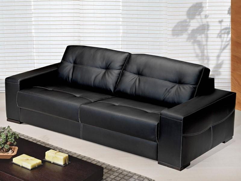 Canapé D'angle Mi Cuir Mi Tissu