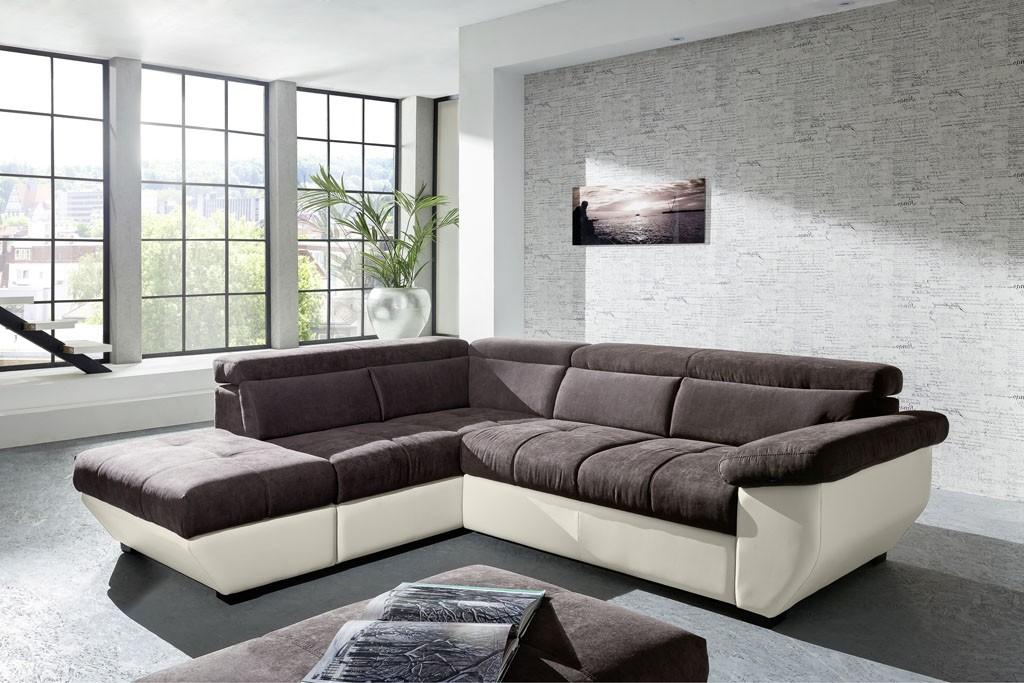 Canapé D'angle Modulable Convertible Tissu Et Pu Kouvola