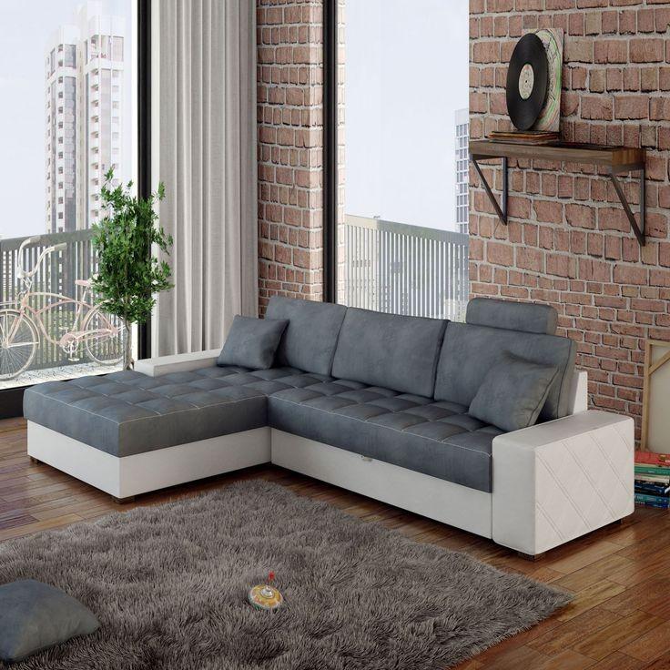 Canapé D'angle Réversible Convertible Avec Coffre Alinn