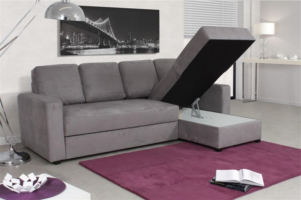 Canapé D'angle Réversible Et Convertible Avec Coffre De Rangement