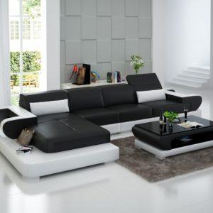 Canap d 39 angle relax cuir canap id es de d coration de maison l2b1x - Canape cuir blanc relax ...