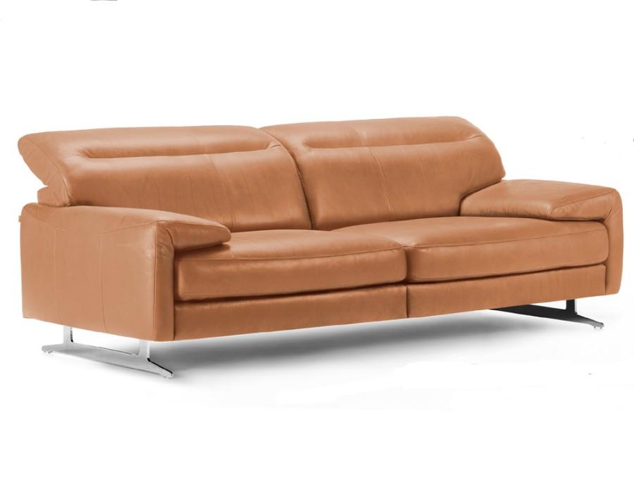 Canapé Fixe Cuir 3 Places
