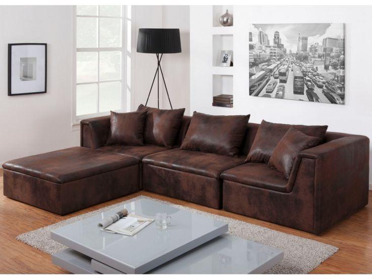 canap tissu d 39 angle convertible modulable microfibre velours delphes canap id es de. Black Bedroom Furniture Sets. Home Design Ideas