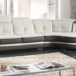 Canape arrondi cuir blanc canap id es de d coration for Canape cuir center