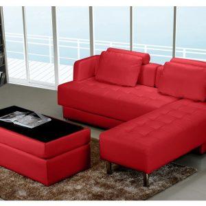 canape d 39 angle convertible cuir rouge canap id es de d coration de maison ovnowbjn3a. Black Bedroom Furniture Sets. Home Design Ideas