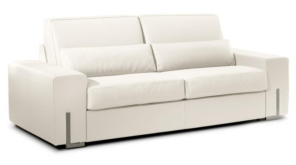 Canape En Cuir Blanc Convertible