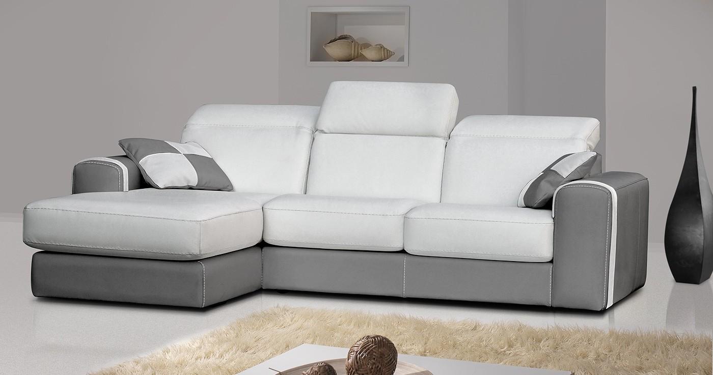 Canape Meridienne Cuir Bicolore