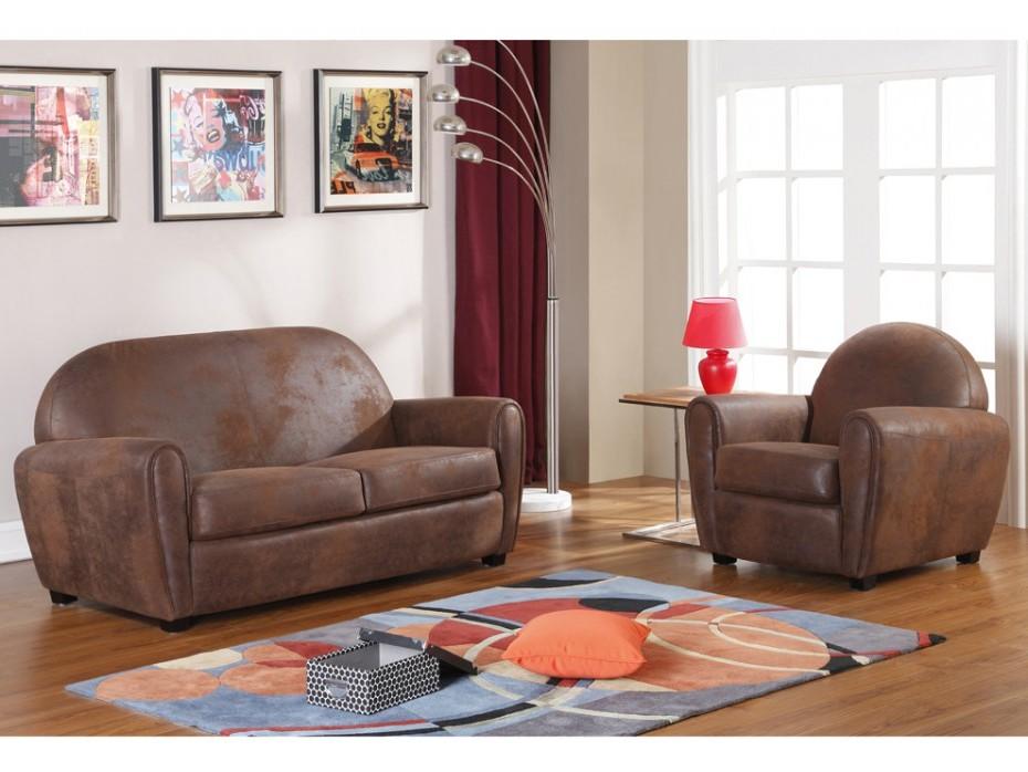 ensemble canap et fauteuil club canap id es de. Black Bedroom Furniture Sets. Home Design Ideas