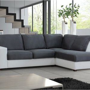 Grand Canapé D'angle Basmaj Neuf Tissu Design 6 Places