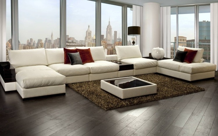 Grand Canapé D'angle Design Italien
