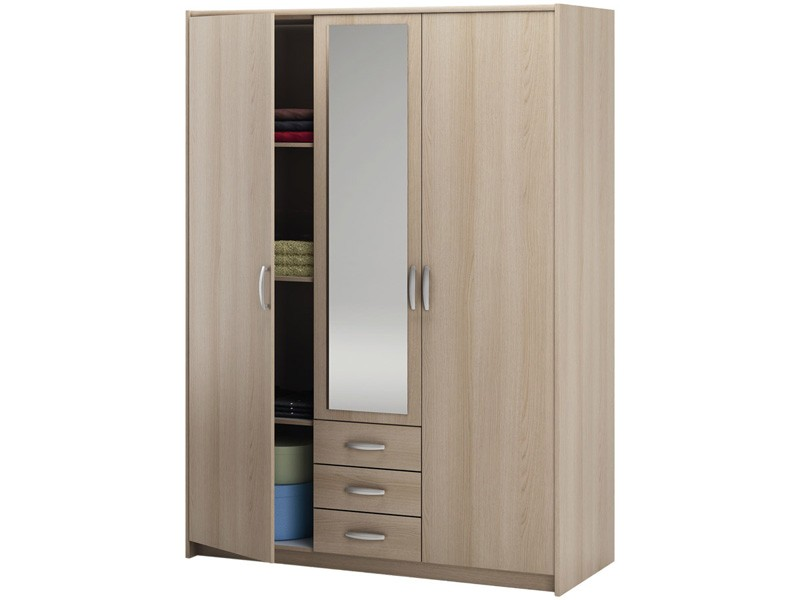 Finest affordable armoire portes conforama with armoire for Placard conforama