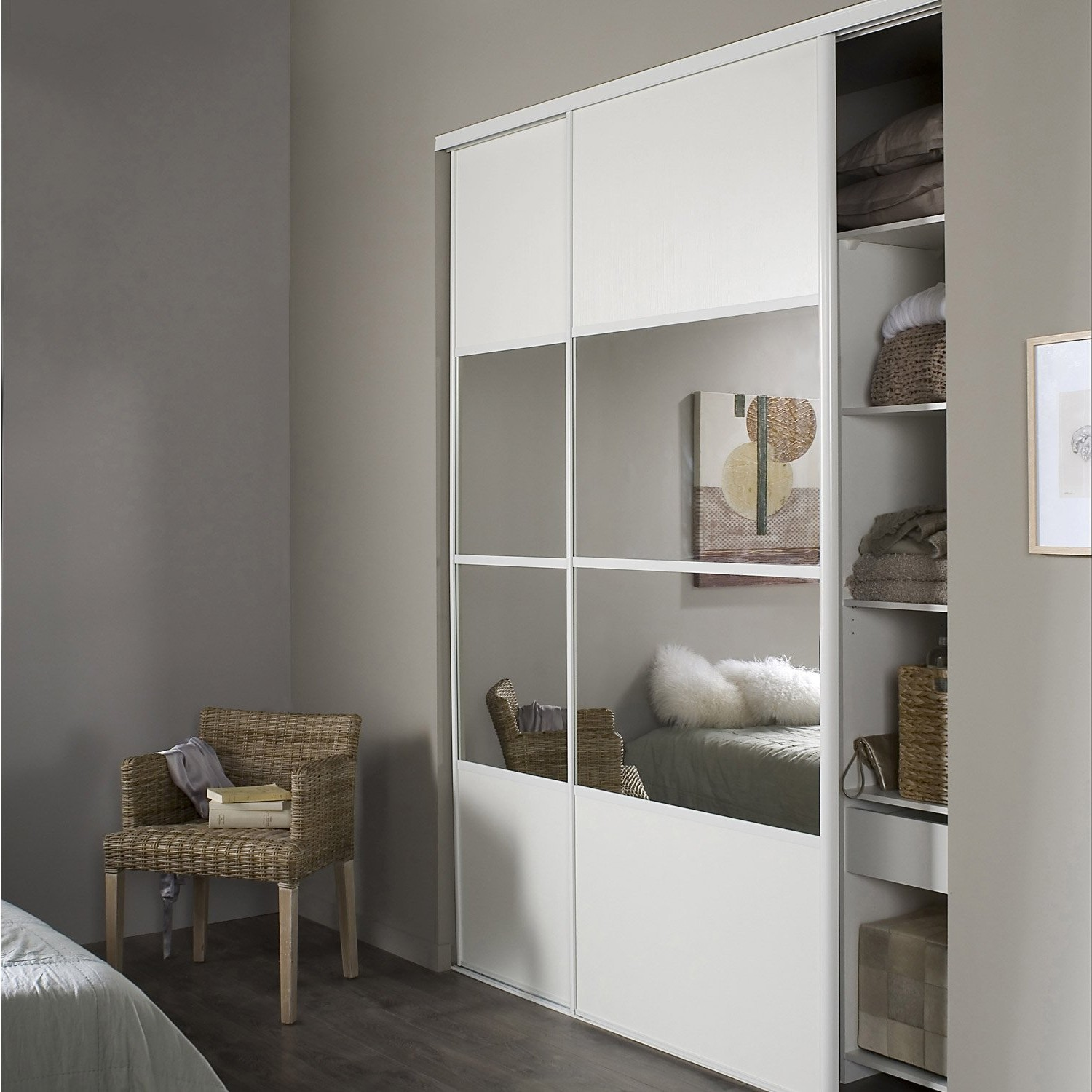 Alinea armoire coulissante perfect meubles chaussures for Armoire chambre alinea
