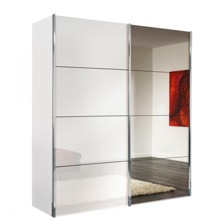 Armoire blanc porte coulissante armoire id es de for Decoration porte armoire