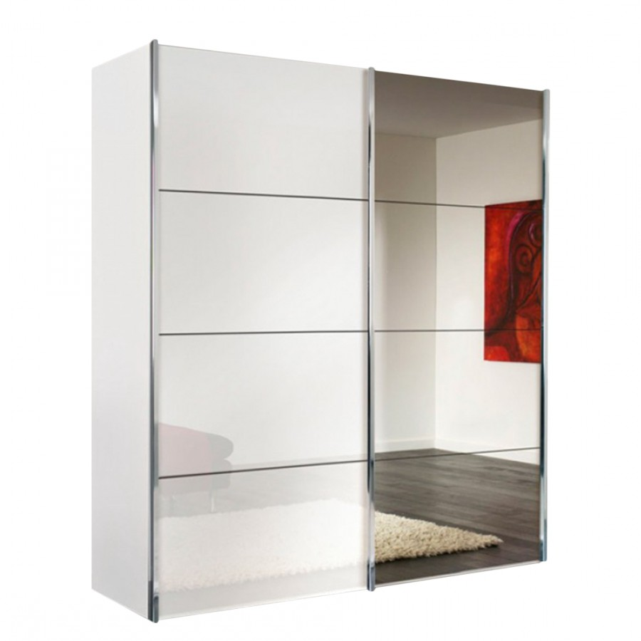 Armoire Blanche Coulissante Miroir